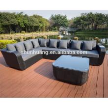 Patio rattan furniture outdoor wicker sofa rattan sofa sets