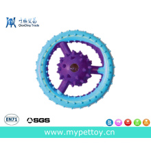 Rubber Ring with Spiked Ball Pet Toy