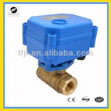 Robinet à tournant sphérique de l'actionneur électronique CWX15 DN8 pour la valve chaude d'air. HVAC et le service de gicleurs de feu-vol