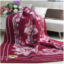 100% laine jacquard / laine de yak / laine / cachemire couvertures / textile / tissu / literie