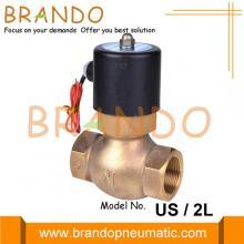 Válvula solenóide de latão a vapor Série 2L 24V 220V