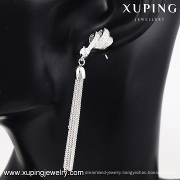 E-180 Xuping new jewelry designs withe gold tassel Jewelry earring