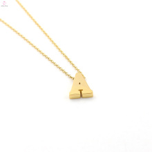 Benutzerdefinierte Buchstaben Edelstahl Gold 26 Alphabet Charm Anhänger erste Halskette