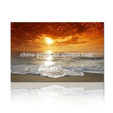 Impresión de la lona de la puesta del sol del chorro de tinta / impresión natural del arte de la lona / pintura al óleo hermosa del paisaje en lona