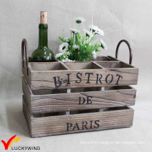 Vintage Artificial Wooden Container for Storage Crate