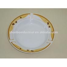 """9 """"plato de sopa de cerámica vegetal, plato de sopa de porcelana OEM con diseño agradable"""