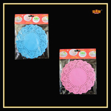 10.5 Inches lace Colored Foil doily