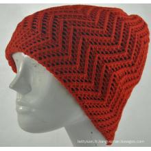 Bonnet en maille en tricot à la mode pour filles et chaude (KB-080001)