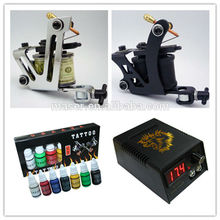 2 Tattoo Guns Tattoo Kit, 50 Tattoo Ink Cup Komplette Tattoo Kit, Full Tattoo Kit, Löwe Tattoo Maschine Tattoo Kit
