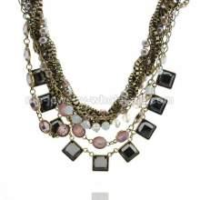 Классическая популярные ожерелье жемчужное антикварные бронзовые цепи
