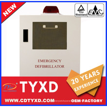 2017 New first aid aed defibrillator cabinet for AED