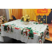 Christmas design printed 300D mini matt fabric for table cloth