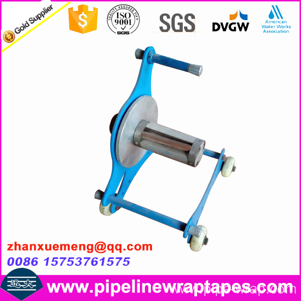 Hand applied tape wrapping machine