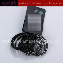 Cravate élastique en forme de forme ronde noire
