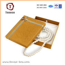 Golden Pearl Necklace Cardboard Gift Box