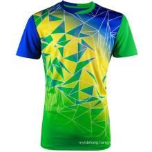 Custom Men 100% Polyester Sport Short Sleeve T-Shirt