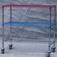NSF Color Wire Hotel Storage Rack for Commercial