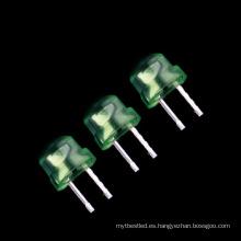 Diodo de iluminación verde del sombrero de paja de 4.8mm LED