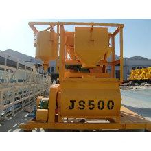 Twin-Shaft Js500 Concrete Mixer
