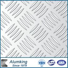 Placa de aluminio a cuadros de diamante para