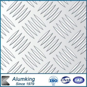 Five Bar Checkered Aluminium / Aluminium Sheet / Plate / Panel 5052/5005