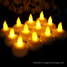 беспламенные плавающие светодиодные аккумуляторные свечи