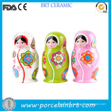 Small Beauty Ceramic Russian Dolls