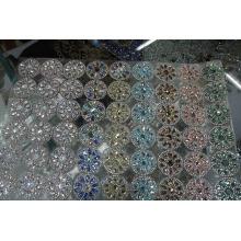 Hot fix adhesive glass rhinestone sheet 24*40cm