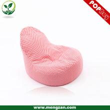 pink cotton fabric bean bag chair, beanbag sofa