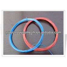 Cor fio de ferro revestido de PVC de ligação