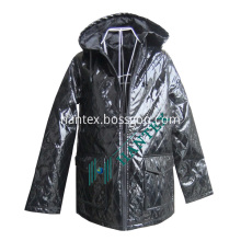 Ladies Fashion Faux Leather Jacket With Cotton