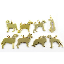 2016 Gold Different Dog Breeds Diamant Charms Pendant