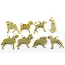 2016 Золотые Разные Породы собак Diamant Charms Pendant