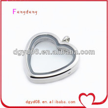 New products 2015 floating locket heart shape locket pendant