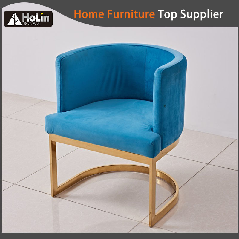Luxury Modern Stainless Steel With Fabric Hotel Bar Chair