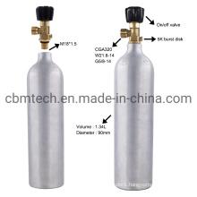 2L 3L 5L 8L Small Size CO2 Gas Cylinder for Beverage /Aruqrium