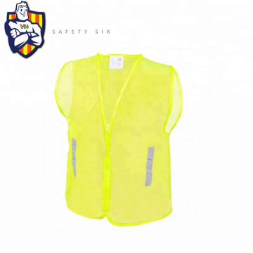 simple safety vest orange cheap yellow traffic accident ansi 100% polyester fabric motorcycle reflective vest