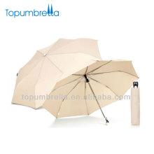 21 Zoll 3 faltende weiße Massenregenschirme