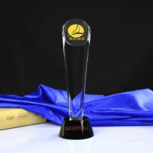 Cylinder Crystal Glass Award&Trophy for Craft