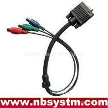 VGA rca 3M 5M ALTA QUALIDADE VGA / SVGA para 3 RCA Phono Componente de Vídeo Cabo PC TV