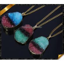 Großhandel Druzy Anhänger, neueste Art bunte druzy Drusy Halskette (CN016)
