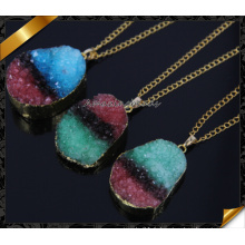 Vente en gros Druzy Pendant, plus récent coloré Druzy Drusy Necklace (CN016)