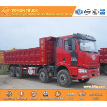 FAW 8X4 Euro4 350hp truck dumper for sale