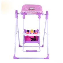 Chaise pliante en plastique pliante pour bébé avec cadre en acier