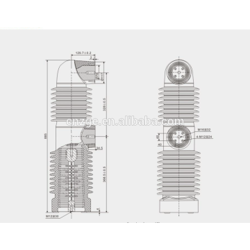 33 кв, встроенных полюсов/запечатанный полюс вакуумного выключателя