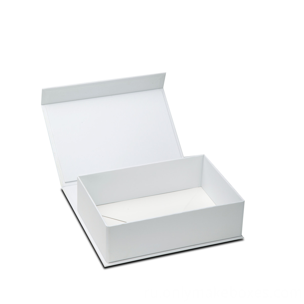 White Collapsible Box with side way folding and magnet closure