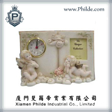 Cherub Angel Statue Desk Clock, Resin Clock Gifts (CC-HD-1540)