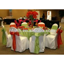 Couverture de chaise de polyester 100 % durable pour banquet