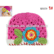 large crochet flowers caps hats Baby Toddler Girls Flower Infant Hat Cap HANDMADE baby hats /caps
