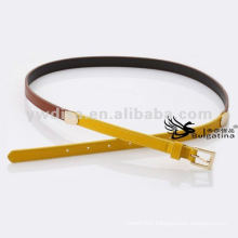 1.5cm Skinny Gold Buckle Mixed Colored Belt Ladies Leather Belt BC4623G-3